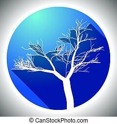 coloridos, árvore, ícone