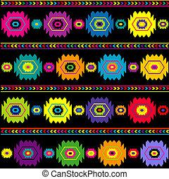 coloridos, étnico, fundo, tradicional, textura