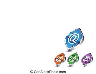 coloridos, ícones correia fotorreceptora