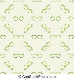 coloridos, óculos, padrão