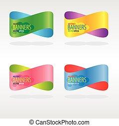 coloridos, abstratos, banners.