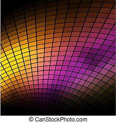 coloridos, abstratos, escuro, experiência., vetorial, mosaico