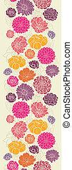 coloridos, abstratos, flores, vertical, seamless, padrão, borda
