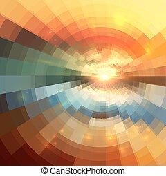 coloridos, abstratos, fundo, círculo, tecnologia, mosaico