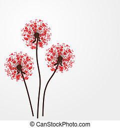 coloridos, abstratos, ilustração, flowers., vetorial, fundo