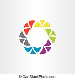 coloridos, abstratos, logotipo, negócio, círculo, símbolo, vetorial, tech, elemento