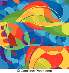 coloridos, abstratos, modernos, experiência., desenho, modelo
