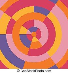coloridos, abstratos, modernos, ilustração, experiência., vetorial, círculo