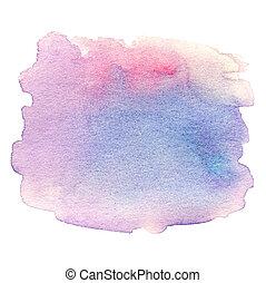 coloridos, abstratos, textura, mão, aquarela, experiência., aquarelle, desenhado, seu, design.