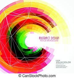 coloridos, abstratos, vetorial, fundo, círculo, quadro