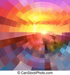 coloridos, abstratos, vetorial, fundo, círculo, tecnologia