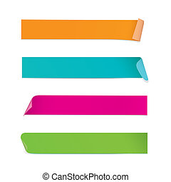 coloridos, adesivos, (vector)