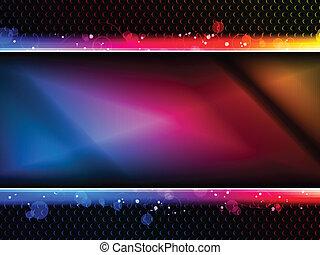 coloridos, arco íris, néon, partido, fundo