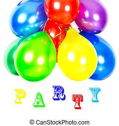coloridos, balloons., decoração partido