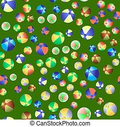 coloridos, bolas praia, seamless, padrão