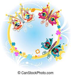 coloridos, borboletas
