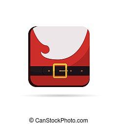coloridos, botão, claus, vetorial, santa, natal