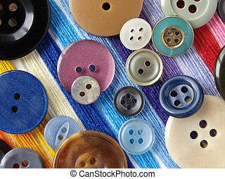 coloridos, botões