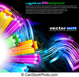 coloridos, brilho, de, luzes, com, brilhante, cores, para,...