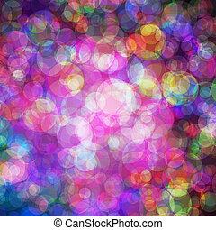 coloridos, bubble., eps10, abstratos, luzes, vetorial, fundo
