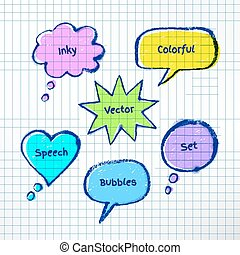 coloridos, bubble-talks, inky