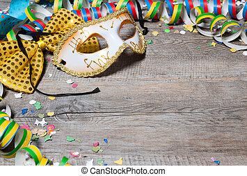 coloridos, carnaval, fundo