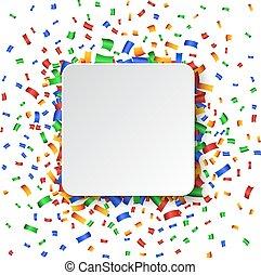 coloridos, celebração, experiência., com, confetti.