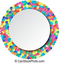 coloridos, celebração, fundo, com, confetti.