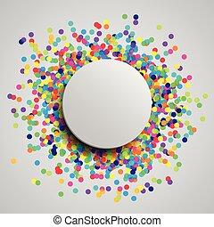 coloridos, celebração, fundo, com, confetti, vetorial