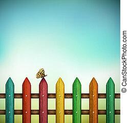 coloridos, cerca