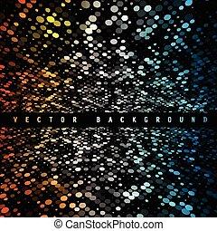 coloridos, cor, abstratos, experiência., vetorial, círculo