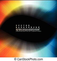 coloridos, cor, abstratos, onda, experiência., vetorial