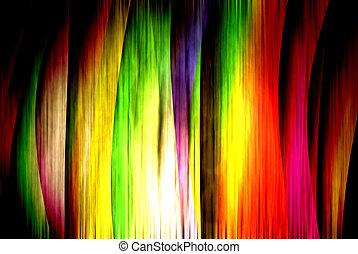 coloridos, cortina