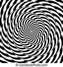 coloridos, desenho, circular, fundo, whirlpool, ilusão, movimento