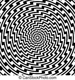 coloridos, desenho espiral, fundo, movimento, ilusão, circular