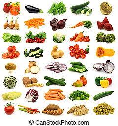 coloridos, e, legumes frescos