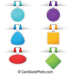 coloridos, emblemas