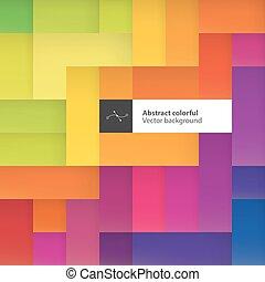 coloridos, espaço, cor, texto, abstratos, experiência., squares., geomã©´ricas