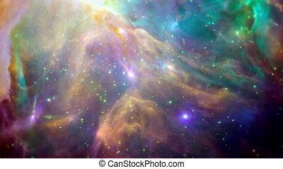 coloridos, espaço, fundo