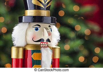 coloridos, feriado, quebra-nozes