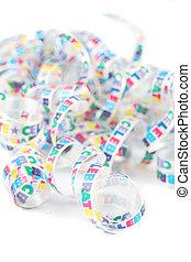 coloridos, fita, celebração