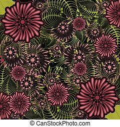 coloridos, floral, fundo
