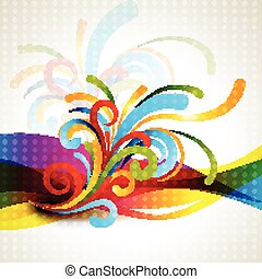 coloridos, floral