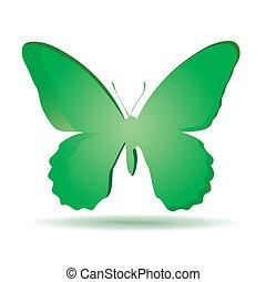 coloridos, fundo, butterfly.