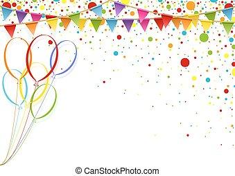 coloridos, fundo, celebração