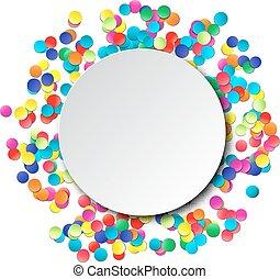 coloridos, fundo, celebração, confetti.