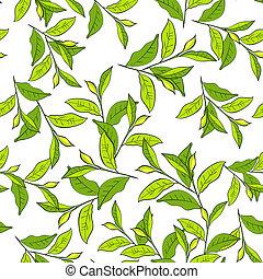 coloridos, fundo, com, leaves.