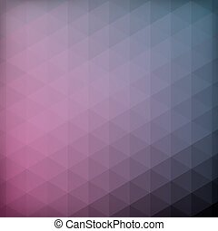 coloridos, fundo, triângulos