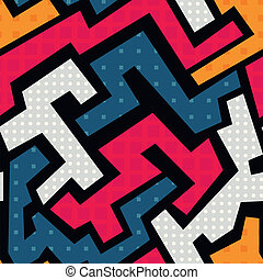 coloridos, geomã©´ricas, seamless, padrão