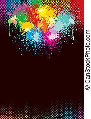 coloridos, grunge, fundo
